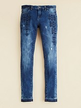 [BLANKNYC] Girls' Embroidered Super Skinny Jeans, Size 12, MSRP $58 - $24.74