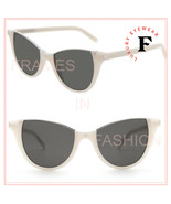 SAINT LAURENT STELLA 368 YSL SL368 Ivory White Topless Cat Eye Sunglasse... - $252.45