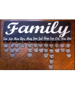Family Birthday Sign and disks - $32.00