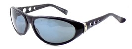 Vintage Diesel Sunglasses POPGUN/N QV3 Black Plastic Wrap Gray 1990s ITALY - $24.69