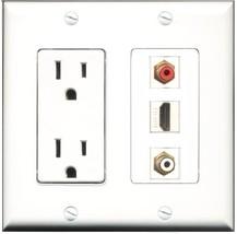 RiteAV - 15 Amp Power Outlet 1 Port HDMI 1 Port RCA Red 1 Port RCA White... - $29.99