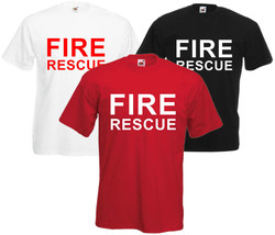 Fire Rescue Fancy Dress T Shirt Tee Retro S-XXL Free Post Fireman Firewoman - $12.46