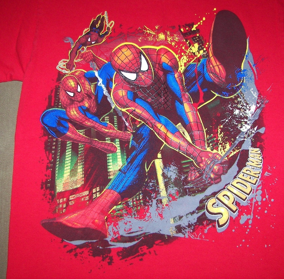SPIDER-MAN Marvel Mad Engine 100% Cotton T-SHIRT/ Youth Size LARGE -10/12