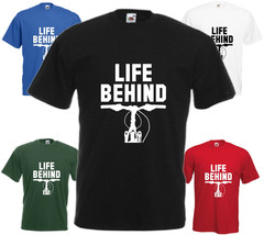 Life Behind Bike Bars T Shirt Funny Top BMX Gift Tee Present Mountain Cycle - $15.56