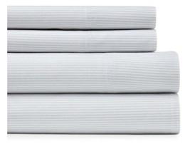Tommy Hilfiger Ithaca Stripe Gray White Sheet Set King - $79.00