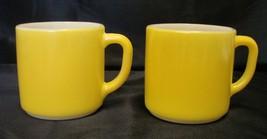 2 Retro Federal Glass Bright Sun Yellow Heat Pr... - $24.72