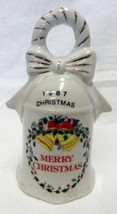 1987 Merry Christmas Holiday Wreath Holly Garla... - $29.67