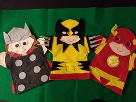 Wolverine, Flash, Thor Puppets - $17.99