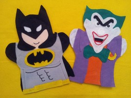 Batman and Joker Super Hero Puppets - $13.00