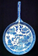 Blue Willow Strainer Porcelain China Drainer Frying Pan Colander Utensil... - $24.47