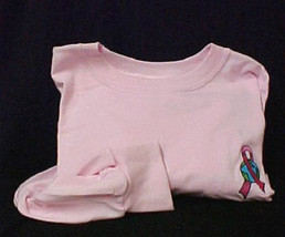 Breast Cancer Awareness LG World Earth Pink Crew Neck  L/S T Shirt Unise... - $27.69