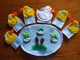 5 Little Duck Finger puppets - $9.99