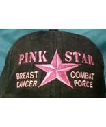 Breast Cancer Awareness Pink Star Combat Black Corded Baseball Hat Unise... - $18.59