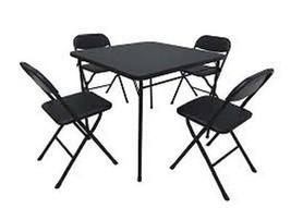 Cosco Black 5-Piece Folding Card Table Set, For... - $88.85