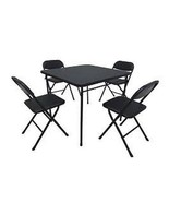 Cosco Black 5-Piece Folding Card Table Set, For Offices, Rec Rooms, Apartments - $88.85