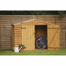 7 Ft. W x 3 Ft. D Garden Sheds Wooden Bike Shed Storage Backyard - $263.18