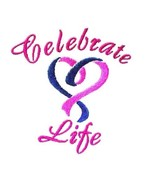 Celebrate Life Hoodie 5XL Heart Embroidery Cancer Awareness White Sweats... - $38.77