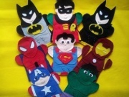 Super Hero Puppets - $40.00