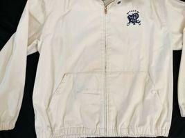 Vintage Beige Ralph Lauren Windbreaker Zip Jacket USA Made Sz Medium M image 4