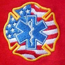 EMT Hoodie XL Sweatshirt Medic EMS Rescue Maltese Cross Star of Life Flag New - $32.31