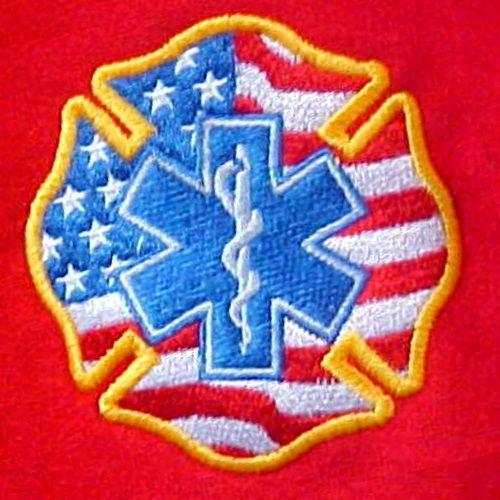 EMT Hoodie XL Sweatshirt Medic EMS Rescue Maltese Cross Star of Life Flag New