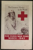 Mint USA Picture Postcard Red Cross War Fund Greatest Mother In The World - $79.37