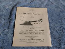 1930 DANDY ELECTRIC REPEATING KRASHER KANNON MAGAZINE ADVERTISEMENT RARE... - $64.99