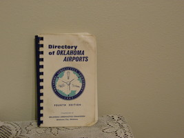1963 Oklahoma Airport Directory Aeronautics Commission Runway Pictures R... - $34.99