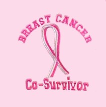 Pink Ribbon Co-Survivor M Hoodie Breast Cancer Awareness Sweatshirt Hood... - $30.04