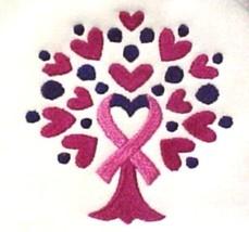 Pink Ribbon Hoodie Medium Sweatshirt Heart Tree of Life White Breast Can... - $31.98