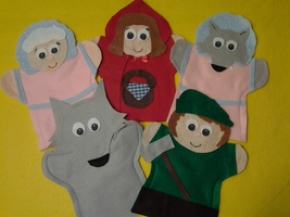 Little Red Riding Hood Hand Puppets - $26.99
