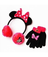 MINNIE MOUSE DISNEY Plush Winter Earmuff & Glov... - $13.85