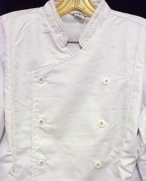 White Chef Coat CIA Culinary Institute America XL New Style 9601