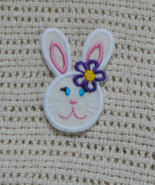Embroidered Bunny Applique, Iron On for spring ... - $2.00