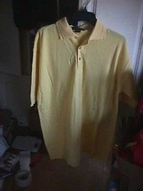 large CATALINA BAY Men's Casual Shirt YELLOW -Short SLEEVE 3 button   NEW L - $3.95
