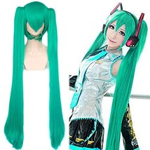 JoneTing Green Wigs for Women with 2 Ponytails Long Straight Wigs with B... - $24.89