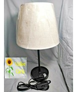 HAITRAL Bedside Table Lamps Set Of 2 With Fabric Shade Black & Tan - $17.99