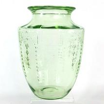 Vintage Hocking Princess Green Uranium Depression Glass Vase c1930's - $39.34