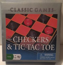 Cardinal Classic Games Checkers and Tic Tac Toe - $1.98