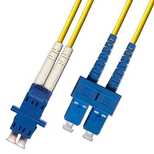 1ft Fiber Optic Adapter Cable LC (Female) to SC (Male) Singlemode 9/125 Duple...