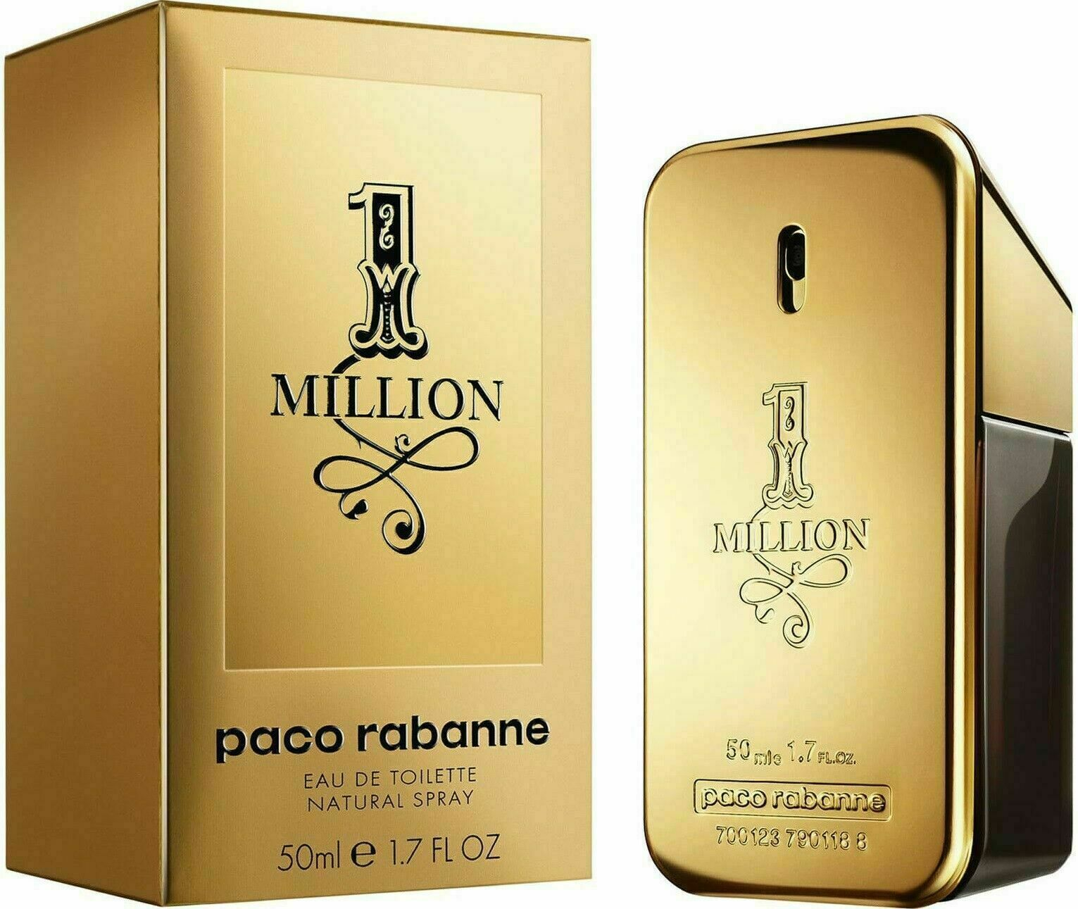 Primary image for 1 Million by Paco Rabanne for Men 1.7 oz EDT Spray Brand New in BOX