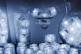 Set of 96 Litecubes Brand 3 Mode White Light up LED Ice Cubes - $164.95