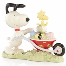 Lenox Peanuts Snoopy's Easter Egg Delivery Figu... - $94.04