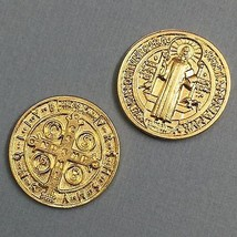 Saint St Benedict Benedictine Pocket Token Protector Protect Coin Medal Catholic - $5.95
