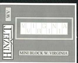 CLEARANCE West Virginia State Mini Block cross stitch chart Hinzeit - $7.00