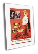 Hot Rod Rumble 1957 Vintage Movie FRAMED CANVAS Print  - $14.96+