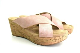CL by Chinese Laundry Women's Destiny Leather Wedge Sandals Size 9.5 - $28.43