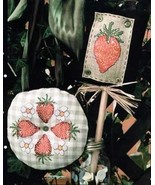 CLEARANCE Strawberry Wreath cross stitch chart Sisters & Best Friends - $3.00