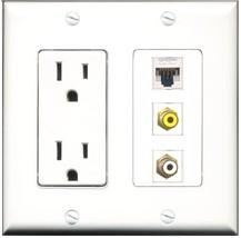 RiteAV - 15 Amp Power Outlet 1 Port RCA White 1 Port RCA Yellow 1 Port C... - $29.69