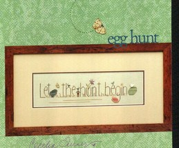 CLEARANCE Egg Hunt easter spring cross stitch chart Heart in Hand - $4.00